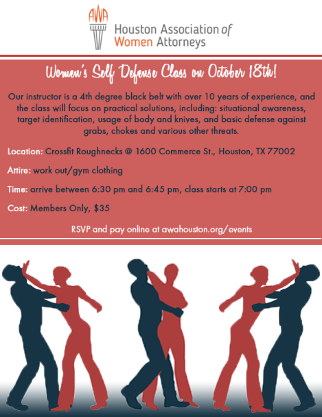 Womens Self Defense event invite