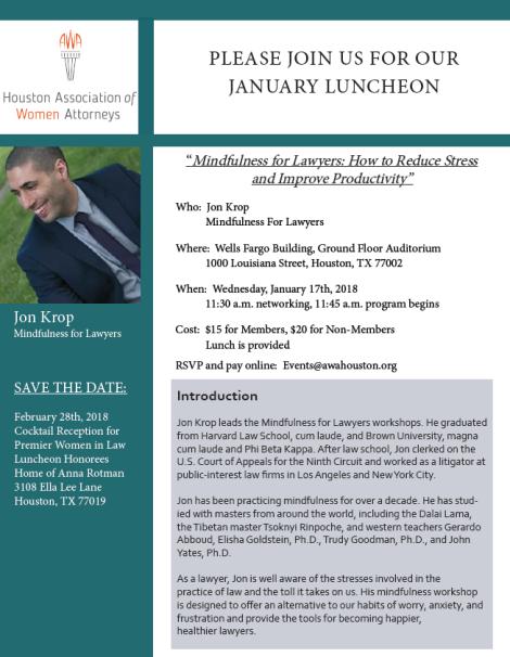 Jan 2018 Luncheon
