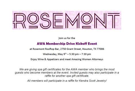 AWA Membership Drive Kick Off