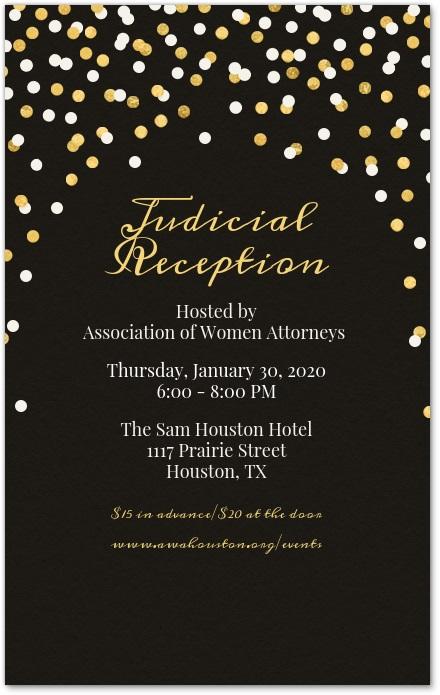 Judicial Reception Invitation